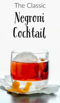 The Negroni Cocktail and Book Review