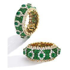Best Diamond Bracelets : Formerly From the Collection of Brooke Astor. 18 Karat Gold, Platinum, carats Colombian Emerald and carats Diamond Bracelet, Van Cleef & Arpels. Emerald Bracelet, Emerald Jewelry, Diamond Bracelets, Ankle Bracelets, Diamond Jewelry, Jewelry Bracelets, Modern Jewelry, Fine Jewelry, Van Cleef And Arpels Jewelry