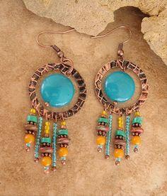 Boho+Chandelier+Earrings+Urban+Gypsy+Earrings+by+BohoStyleMe,+$44.00