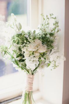 Destination and UK Fine Art Wedding Photography |  white wild flower bouquet