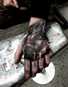 If you want to make Hand portrait Tattoo with font yourself and you are looking for the suitable design or just interested in tattoo, then this site is for you.