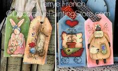 The Decorative Painting Store: Spring Hang Tags Pattern, Primitives