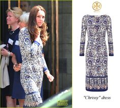 Duchess of Cambridge attends the annual Place2Be conference wearing the Tory Burch 'Chrissy' dress