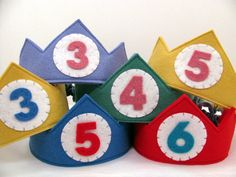 Wool Felt Birthday Crown -- custom made with the number of your choice. $22.50, via Etsy.