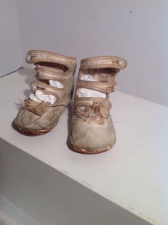 Antique Doll or Baby Shoes Boots Victorian Button Up Vintage | eBay