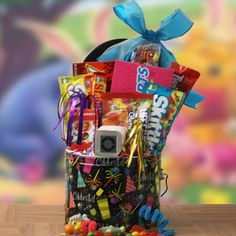 Music Gift Baskets: Candy Concert iPod Gift Basket @ Design It Yourself Gift Baskets