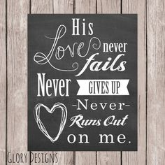 Love Never Fails, Quote printable, Worship Song, Jesus Culture, Inspirational quote printable