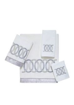Avanti White Alexa White Washcloth
