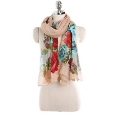 Winter Women Scarf Luxury Brand Shawls And Wraps Multicolor Floral Print  Infinity Ladied Scarves Poncho Echarpe b7631a469c2
