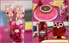 Owl First Birthday Party from Linnycakes.com