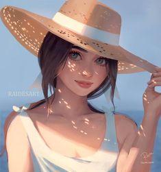 Sunny by RaidesArt on DeviantArt Cute Cartoon Girl, Cool Anime Girl, Anime Art Girl, Digital Art Girl, Digital Portrait, Portrait Art, Portrait Cartoon, Cute Art Styles, Cartoon Art Styles