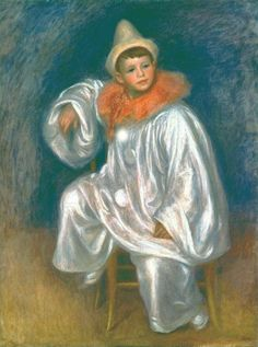 The White Pierrot, 1901, oil on canvas 79.1 x 61.9 cm  by Pierre Auguste Renoir