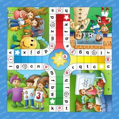 Læringstæppe Bogstavludo-31 Games For Kids, Games To Play, Activities For Kids, Kids Education, Special Education, The Gruffalo, Preschool Writing, English Language Learning, Play To Learn