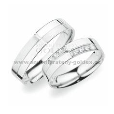 SP-256Ag Stříbrné snubní prsteny