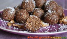 Apple Balls http://www.healthysnacksrecipes.net/apple-balls/ Easy healthy snack recipes