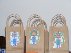 """Robot Factory"" Party goodie bags"