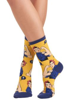 I must have these!!!! Mod Cloth Simply Riveting Socks