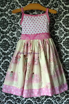 The Agnes dress Tank style dress with knit bodice Cutsom options sizes 12m- 8 years