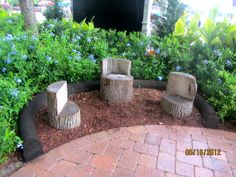 making these log benches for austins playground