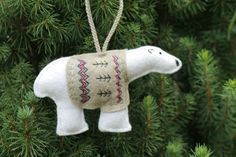 Polar Bear has a Sweater // Felt Christmas by OrdinaryMommy, $35.00