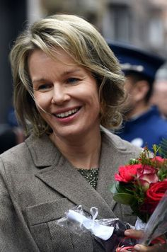 Queen Mathilde of Belgium visited the exhibition of 'Search of Utopia' at M - Museum in Leuven