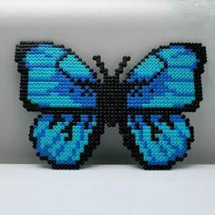 Butterfly hama perler beads by nattergalen_8