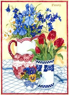 Colorful Flowers, Spring Flowers, Colourful Art, Evans Art, Watercolor Flowers Tutorial, Fairy Crafts, Snowy Day, Decoupage Paper, Embroidery Art