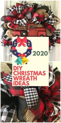 DIY Christmas Wreath Ideas #wreaths Christmas Wreaths To Make, Christmas Porch, Christmas Fun, Christmas Decorations, Wreath Ideas, Porch Ideas, 4th Of July Wreath, Diy Crafts, Unique