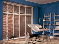 Comfortex Woodwind 2-inch Horizontal Faux Wood Blinds, perfect alternative to Wood Blinds