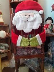 Resultado de imagen para sillas de comedor decoradas de navidad