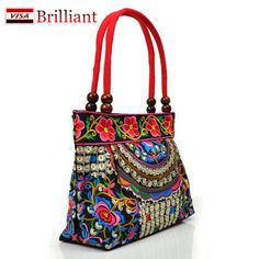 Chinese Style Cotton Bag Women Handbag Embroidery Ethnic Summer Fashion Handmade Flowers Ladies Tote Shoulder Bags Cross-body A2