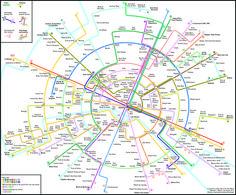Max Roberts, maître de conférence en psychologie à l'université d'Essex, a imaginé un plan du métro parisien circulaire pour nous faciliter la vie.