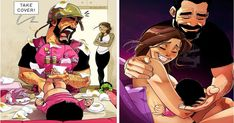 Famous Artist Illustrates Couple's Life Hilariously, And Now They Have Baby Gi. - Famous Artist Illustrates Couple's Life Hilariously, And Now They Have Baby Girl As Well! Cute Couple Comics, Cute Couple Cartoon, Couples Comics, Cute Couple Art, Cute Couple Pictures, Cute Comics, Funny Couples, Marriage Cartoon, Relationship Cartoons