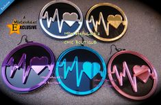 Mirror Laser Cut  Acrylic Disc Earrings  by MlleCafeAuLait on Etsy, $30.00