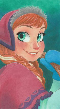 Manga Style Disney Princess by Chihiro Howe Anna