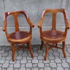 These twins are over hundred years old, they were used in an renowed Prague's barber shop. Needed some serious renovation, now are ready to serve another century. Furniture Restoration, Barbershop, Armchairs, Prague, Being Used, Year Old, Vintage Furniture, Twins, Retro