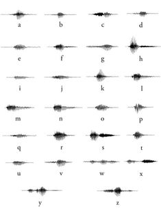 Alphabet des ondes sonores alphabet sound waves Interessante Ideen, Gedanken Alphabet des ondes sonores alphabet sound waves Interesting ideas, though
