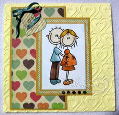 Margreet's scrapcards: Vol verwachting klopt ons hart / Expecting