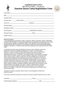 1000 images about summer dance camps 2015 on pinterest for Dance school registration form template free