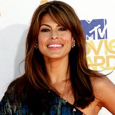 """""""Lots of women are bothered by hair in their eyes,"""" says celebrity hairstylist Mark Townsend. """"If you can stand it, there's just something incredibly racy about swingy, eyelash-grazing bangs."""" #EvaMendes http://www.instyle.com/instyle/package/general/photos/0,,20276967_20405703_20816270,00.html"""