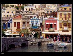 such perfect colours. symi, greece #symi #greece