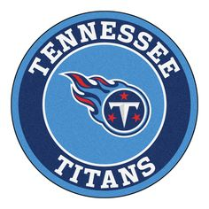 "For all those NFL fans out there, these 27"" round rugs featuring the Tennessee Titans logo and colors look great in any man cave, game room, or anywhere esle in the house, even in the parking lot whil"