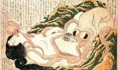 Nature worship … Ako to Ama (Dream of the Fisherman's Wife) by Hokusai