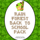 Your students will be WILD about learning this year with this back to school rainforest pack! There are prinatble rainforest room decorations, open house activities, parent communication, first week activities, and much, much more!