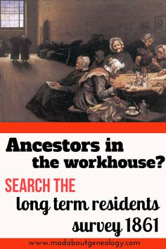 Long Term Workhouse Inmates Survey 1861 is a wonderful genealogy source for your family history. Great example of documents created for a different purpose than genealogy & family history. Every adult who had lived in the workhouse for 5 years or more was recorded. So was your ancestor a long term inmate?