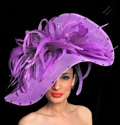 Ascot Hats by Ilda DiVico - Collections Sinamay Hats, Fascinator Hats, Fascinators, Headpieces, Fancy Hats, Cool Hats, Crazy Hats, Kentucky Derby Hats, Church Hats