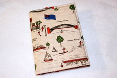Passport Holder  Icons of Sydney with red polka dot by LukaMish, $10.00