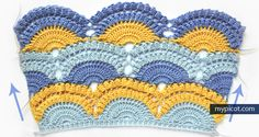[Photo Tutorial] Learn A New Crochet Stitch: Lace Shell Pattern With Popcorn Stitch - Knit And Crochet Daily