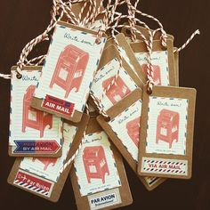 Six Mail Tags  by CherishedByDees on Etsy