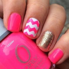 Pink white & glitter